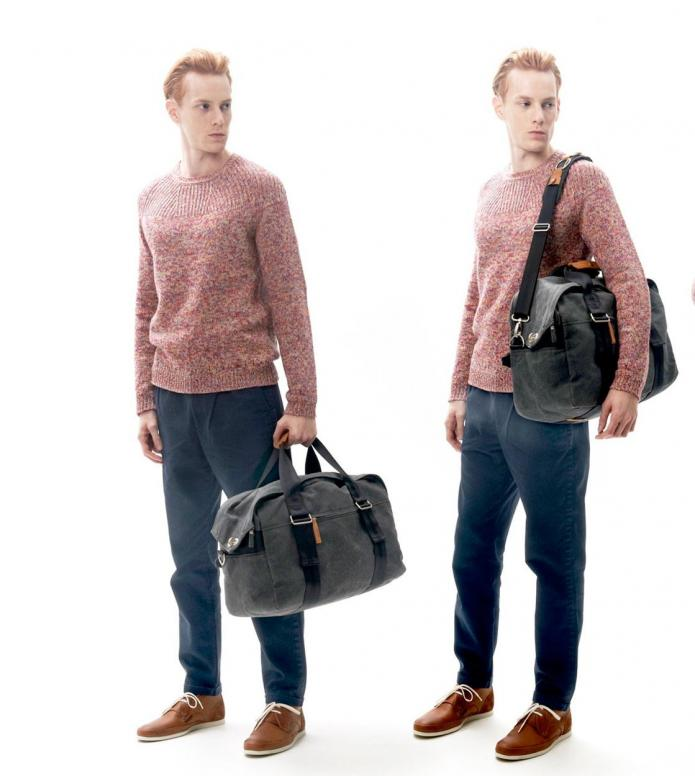 Qwstion Qwstion Bag Weekender washed black