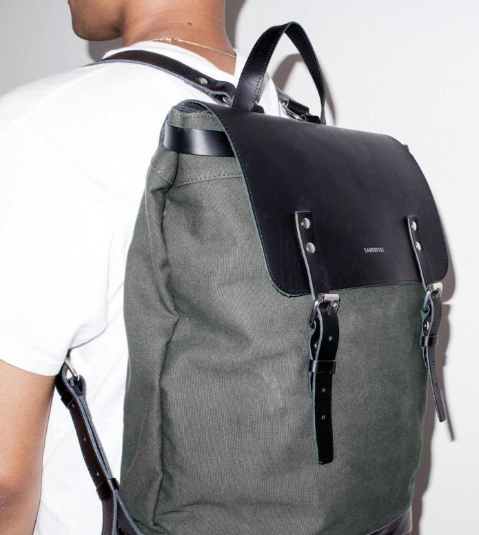 Sandqvist Sandqvist Backpack Hege green beluga