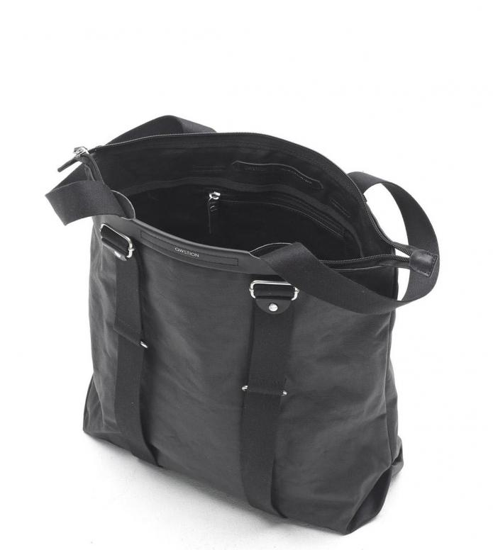 Qwstion Qwstion Bag Simple Zipshopper organic jet black