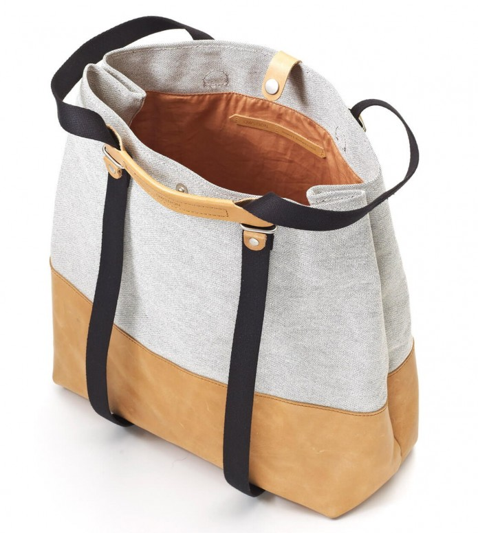 Qwstion Qwstion Bag Shopper raw blend natural leather