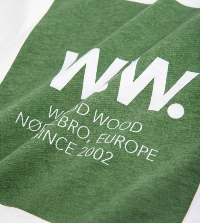Wood Wood Wood Wood T-Shirt Square white bright green