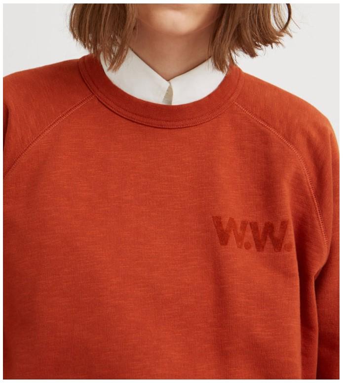 Wood Wood Wood Wood W Sweater Jerri orange rust