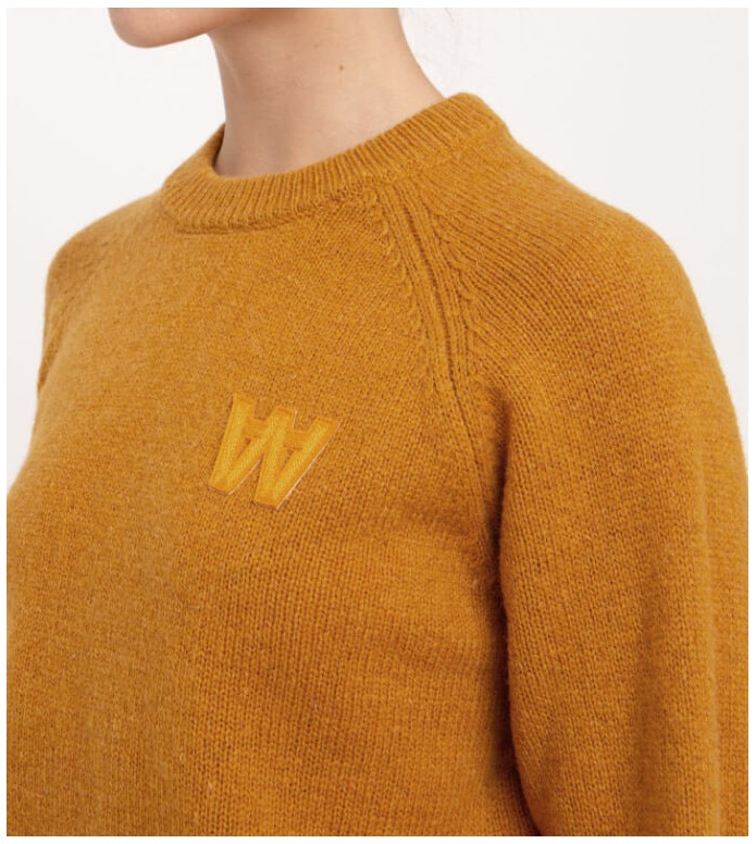 Wood Wood Wood Wood W Pullover Asta yellow mustard