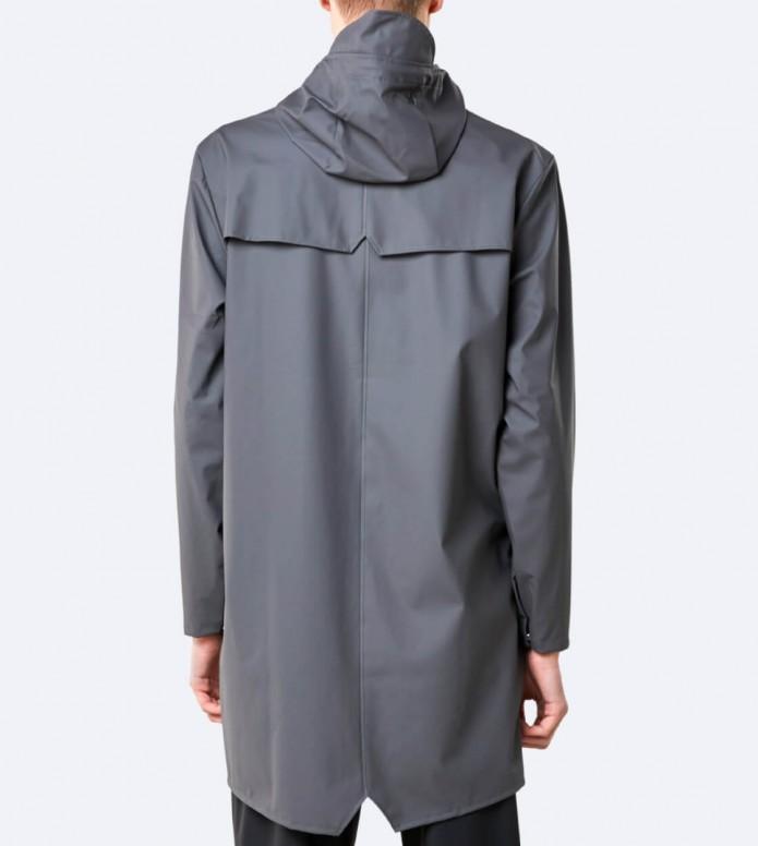 Rains Rains Rainjacket Long grey charcoal