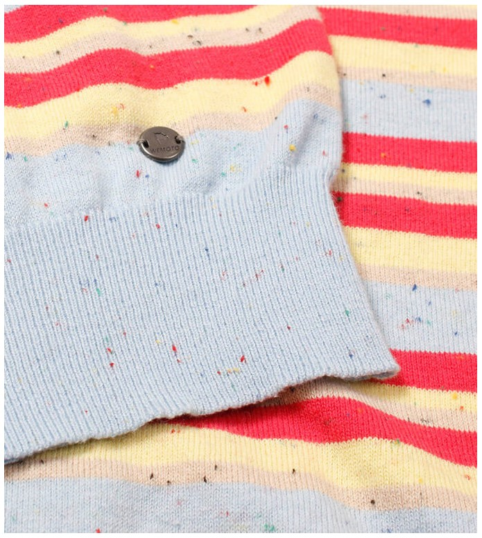 Wemoto Wemoto W Pullover Maxine blue multi stripe nep