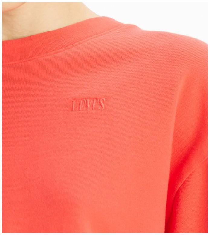 Levis Levis W Sweater Diana Crewneck red ultra soft tomato garment dye