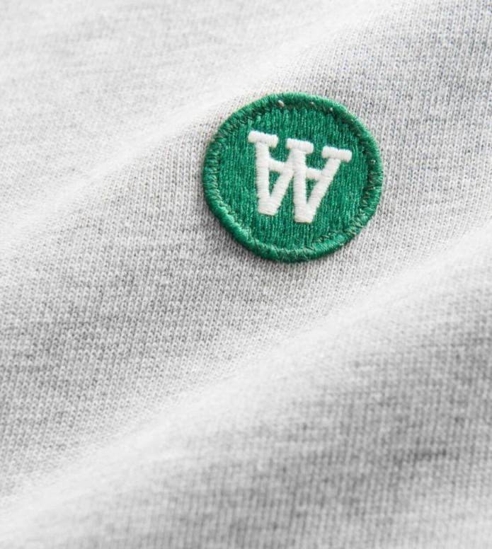 Wood Wood Wood Wood Sweater Tye grey melange