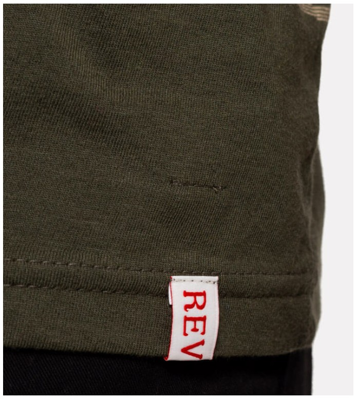 Revolution (RVLT) Revolution T-Shirt 1195 green army