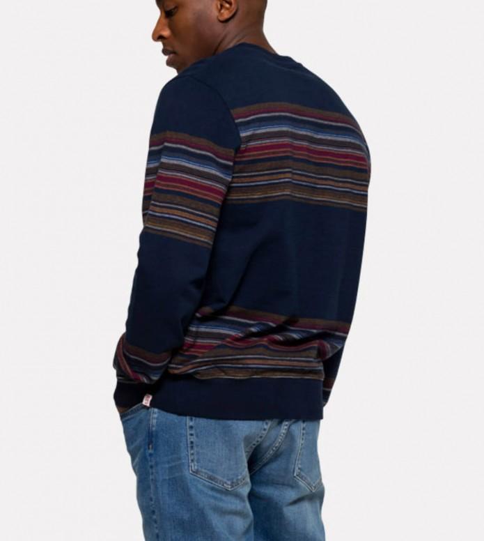 Revolution (RVLT) Revolution Sweater 2653 Striped blue navy