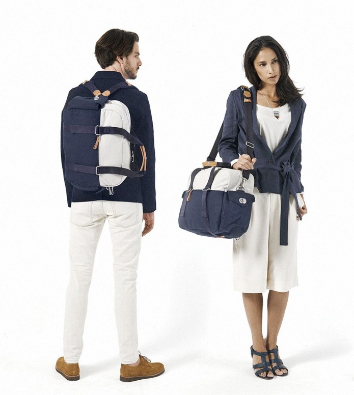 Qwstion Qwstion Bag Overnighter organic navy duotone