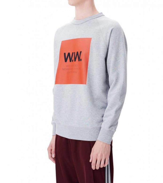 Wood Wood Wood Wood Sweater Hester grey melange