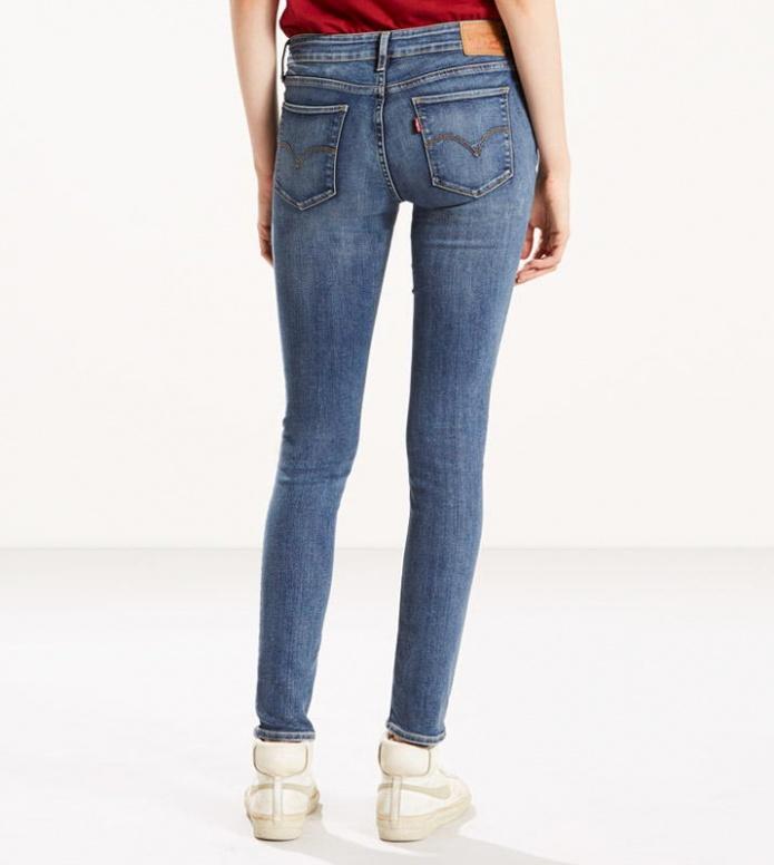 Levis Levis W Jeans 711 Skinny blue antiqued