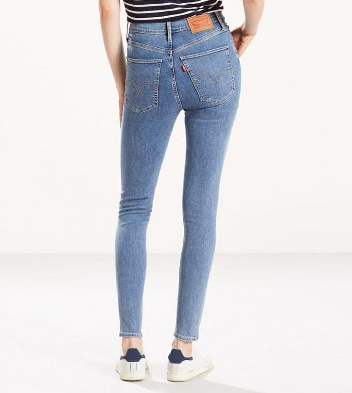 Levis Levis W Jeans Mile Hight Super Skinny blue cast away