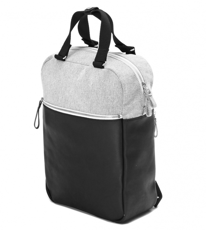 Qwstion Qwstion Backpack Small Pack raw blend leather canvas
