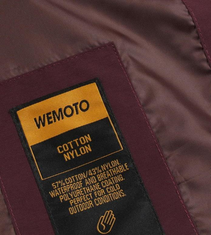 Wemoto Wemoto Winterjacket Soda red burgundy