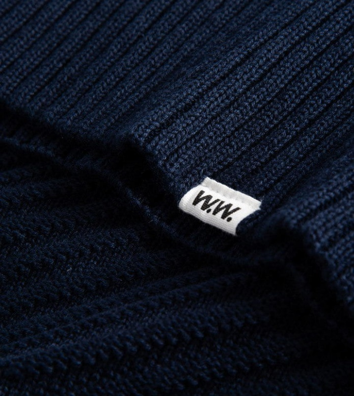 Wood Wood Wood Wood W Knit Pullover Adeline blue navy