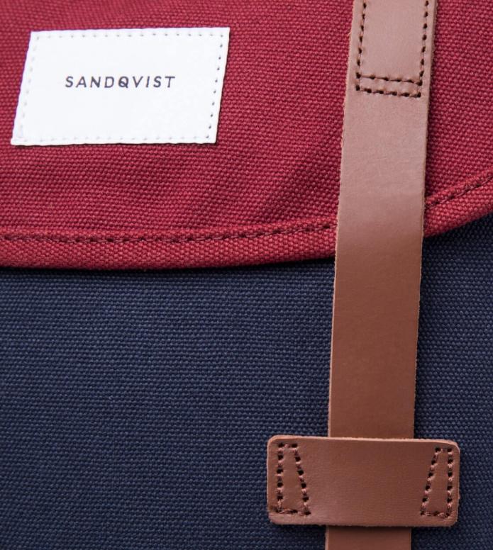 Sandqvist Sandqvist Backpack Stig multi blue/burgundy