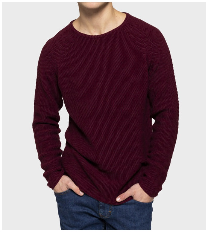 Revolution (RVLT) Revolution Knit Pullover 6261 red bordeaux