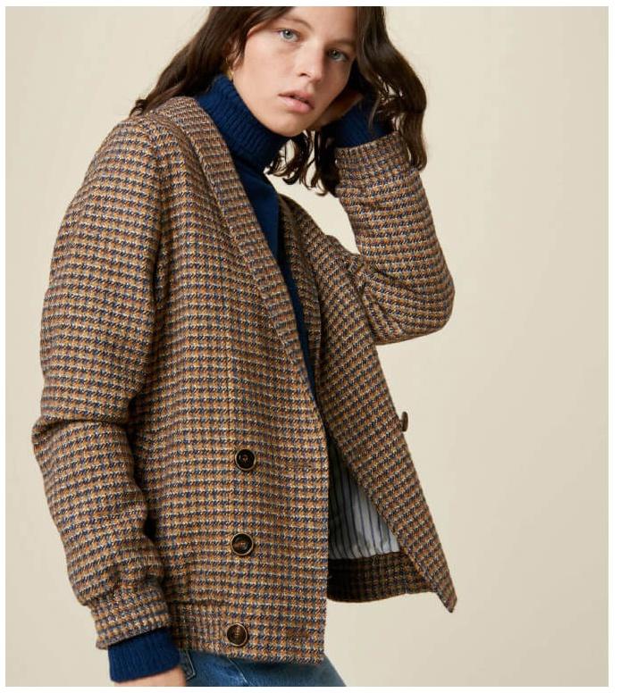 Sessun Sessun W Jacket Alma brown bluefox