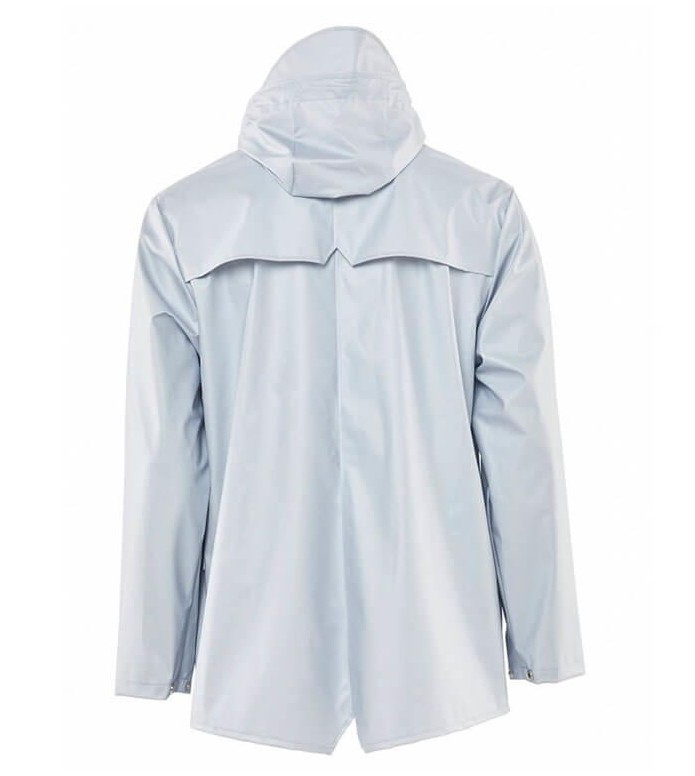 Rains Rains Rainjacket Short silver metallic ice grey