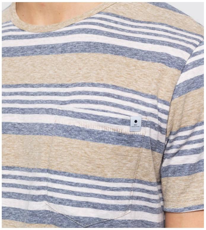 Revolution (RVLT) Revolution T-Shirt 1147 Striped beige khaki