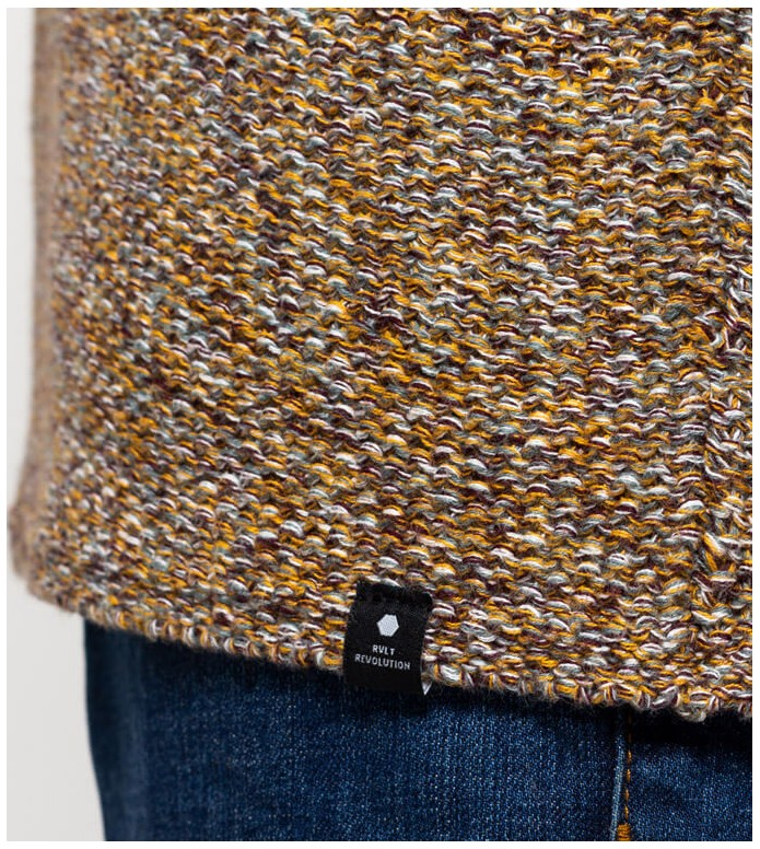 Revolution (RVLT) Revolution Knit Pullover 6293 yellow khaki