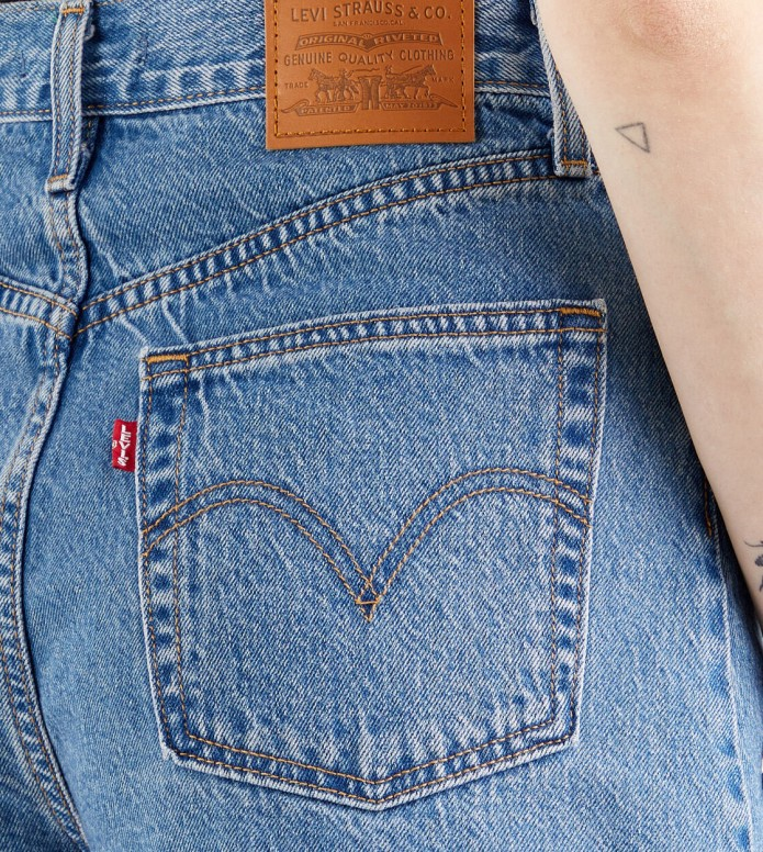 Levis Levis W Shorts High Loose blue number one