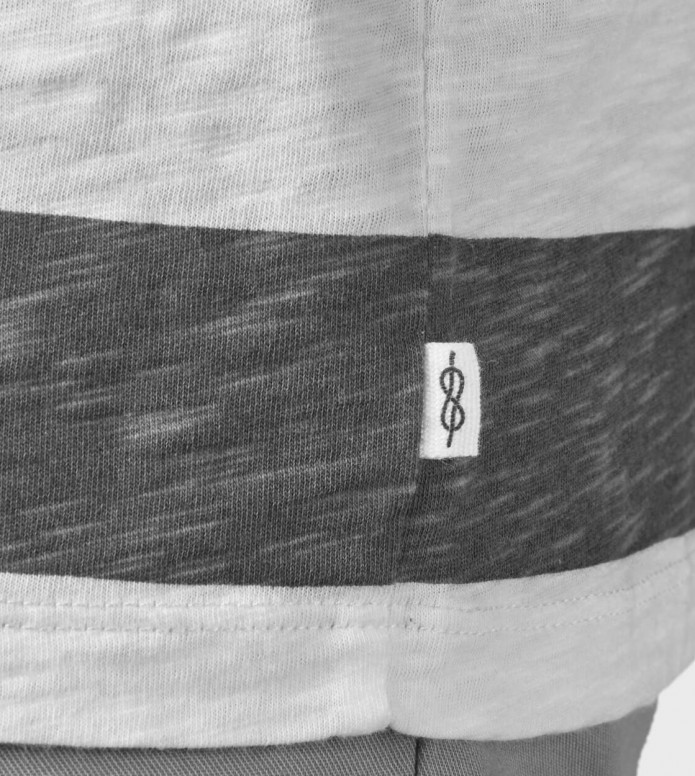 Klitmoller Collective Klitmoller T-Shirt George white/cream/petrol/clay red
