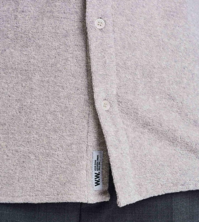 Wood Wood Wood Wood Shirt Oval grey light melange