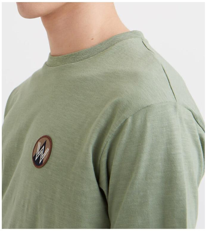 Wood Wood Wood Wood T-Shirt Slater green dusty