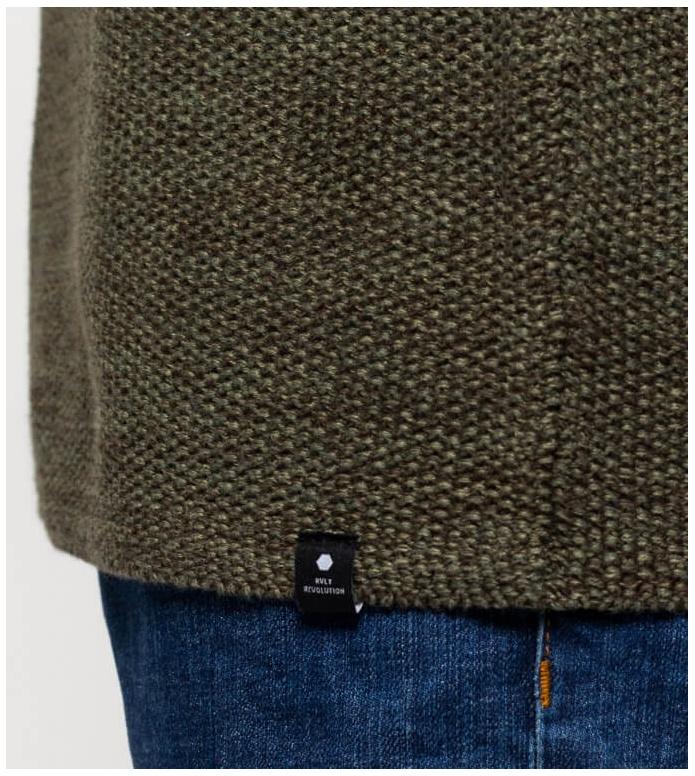 Revolution (RVLT) Revolution Knit Pullover 6009 green army