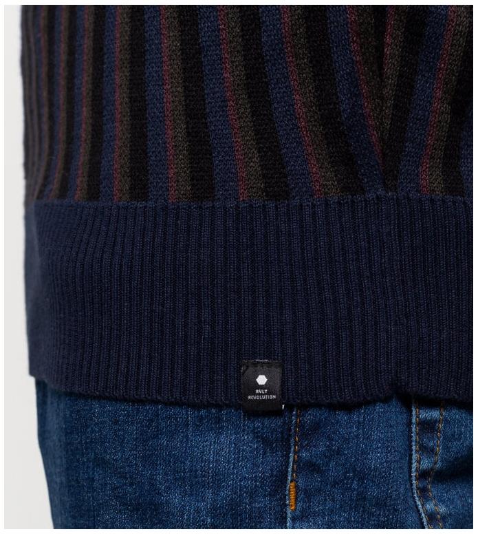 Revolution (RVLT) Revolution Knit Pullover 6507 blue navy