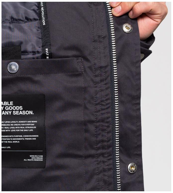 Revolution (RVLT) Revolution Winterjacket 7633 grey dark