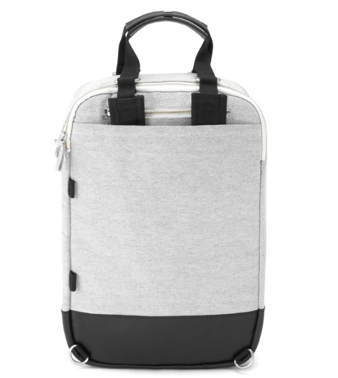 Qwstion Qwstion Bag Daypack raw blend leather canvas