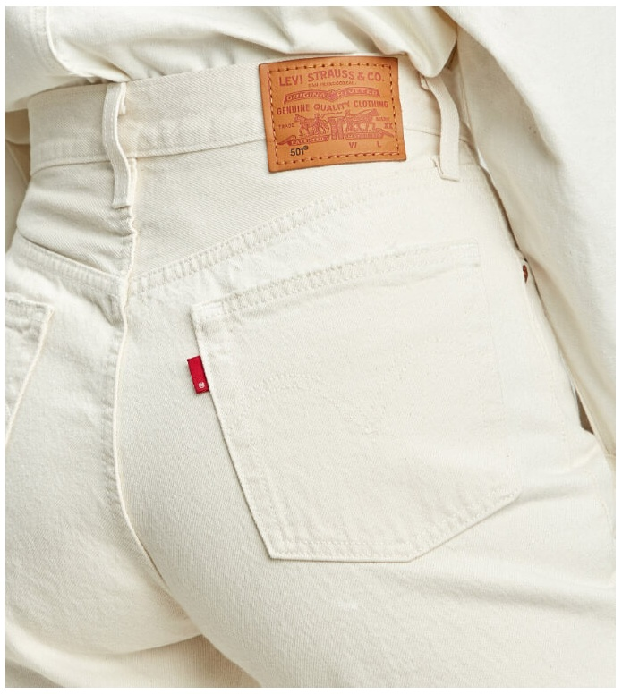 Levis Levis W Jeans 501 Crop beige neutral ground