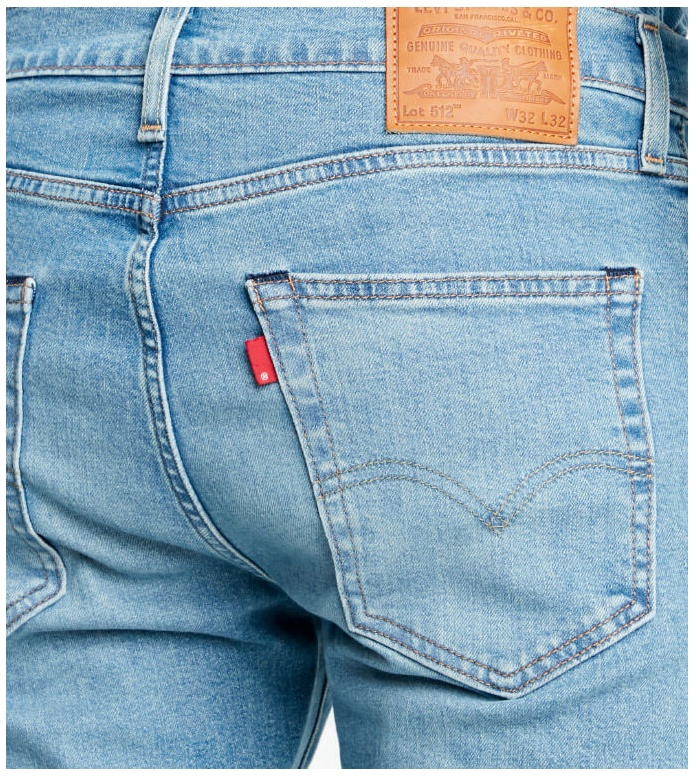 Levis Levis Jeans 512 Slim Taper Fit blue pelican rust