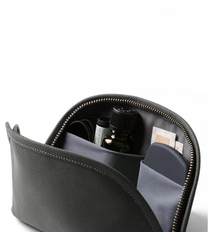 Bellroy Bellroy Classic Pouch Leather grey charcoal