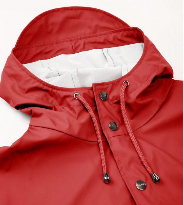 Rains Rains Rainjacket Short red scarlet