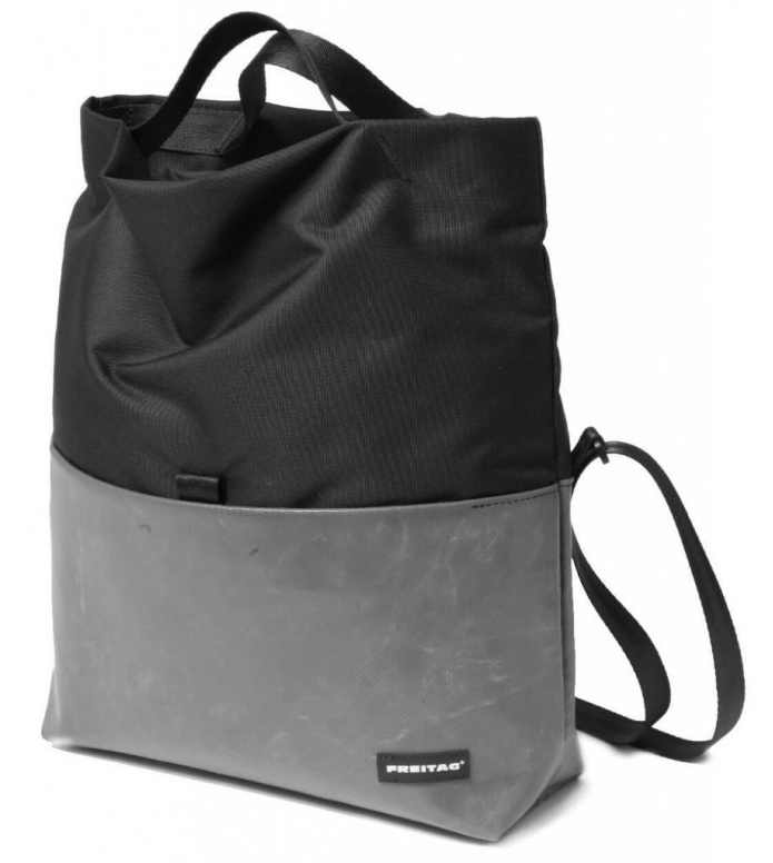 Freitag Freitag ToP Bag Rollin blue foggy/black/silver