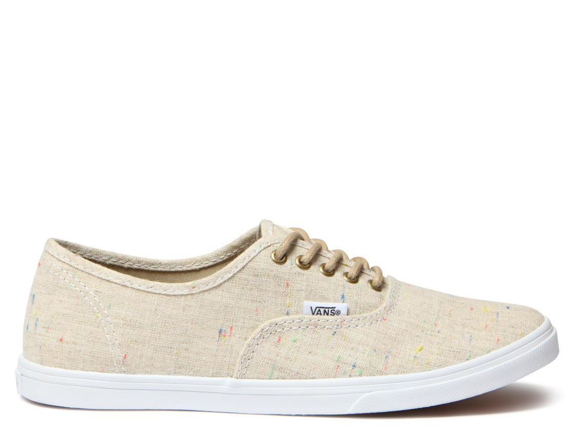 vans authentic lo pro linen skate shoe khaki